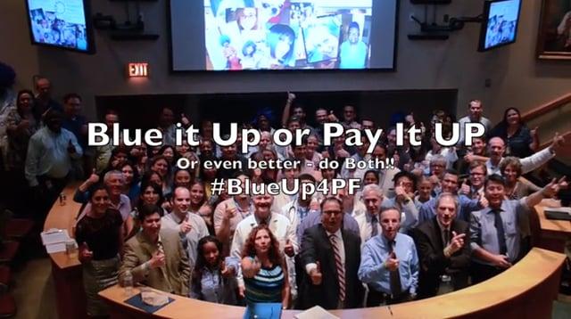 Media Library: #BlueUp4PF