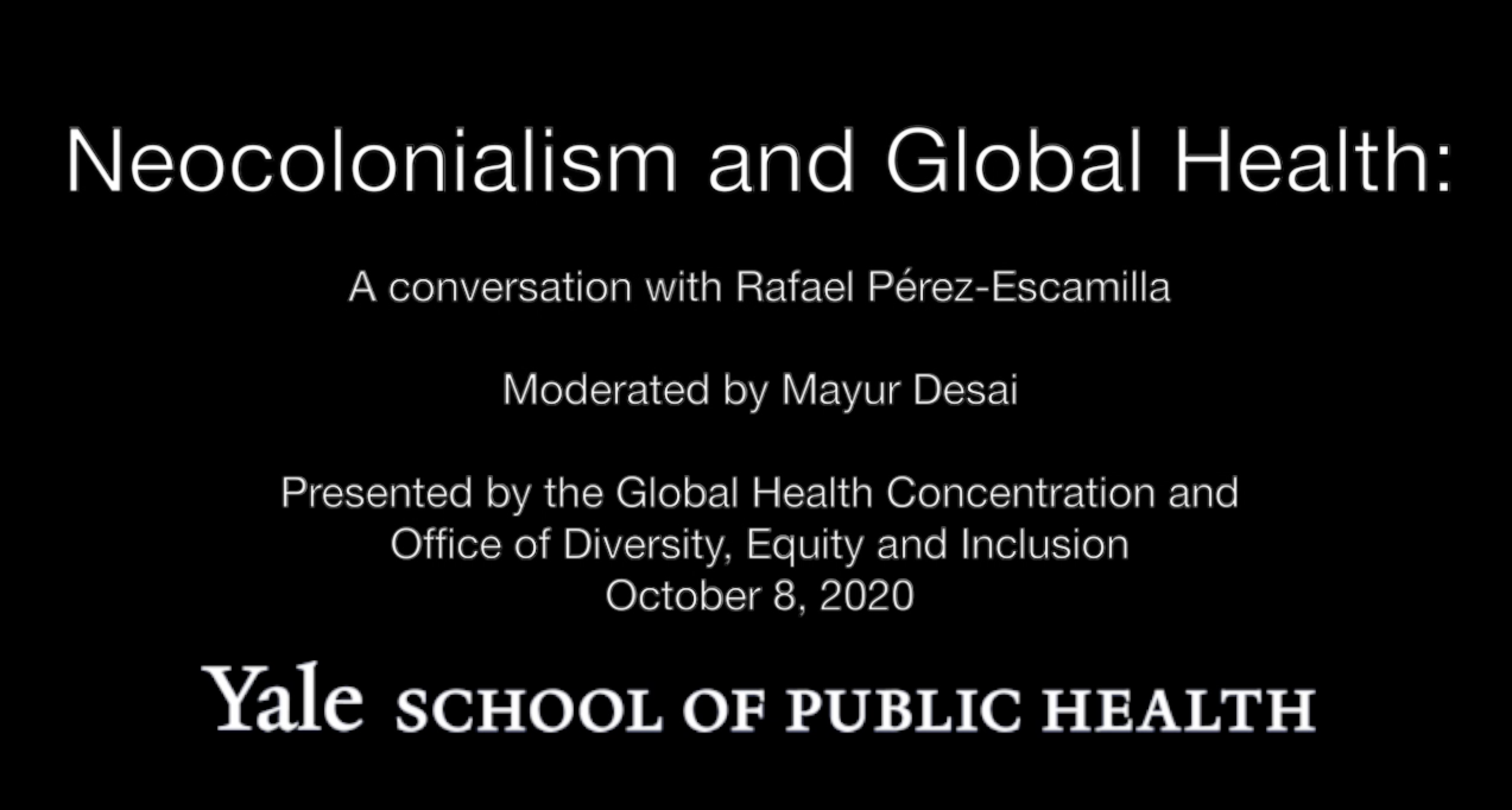Neocolonialism and Global Health