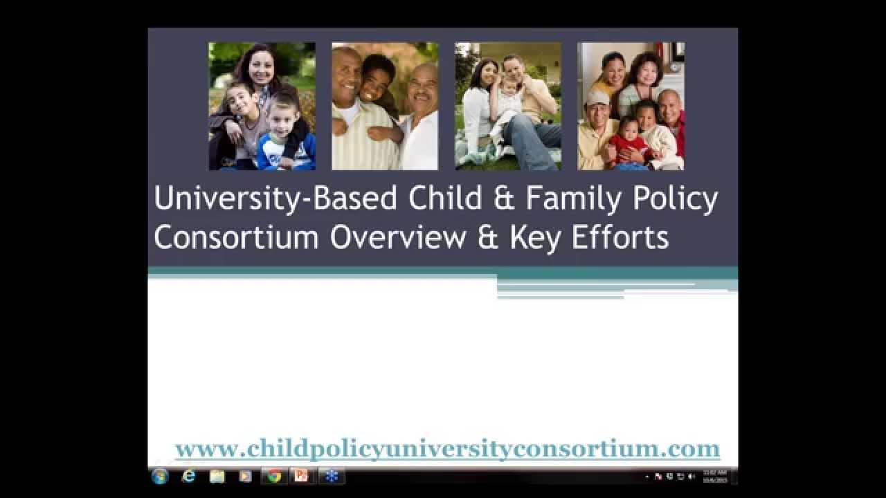 University-Based Child & Family Policy Consortium webinar on Preschool Expulsion and Suspension