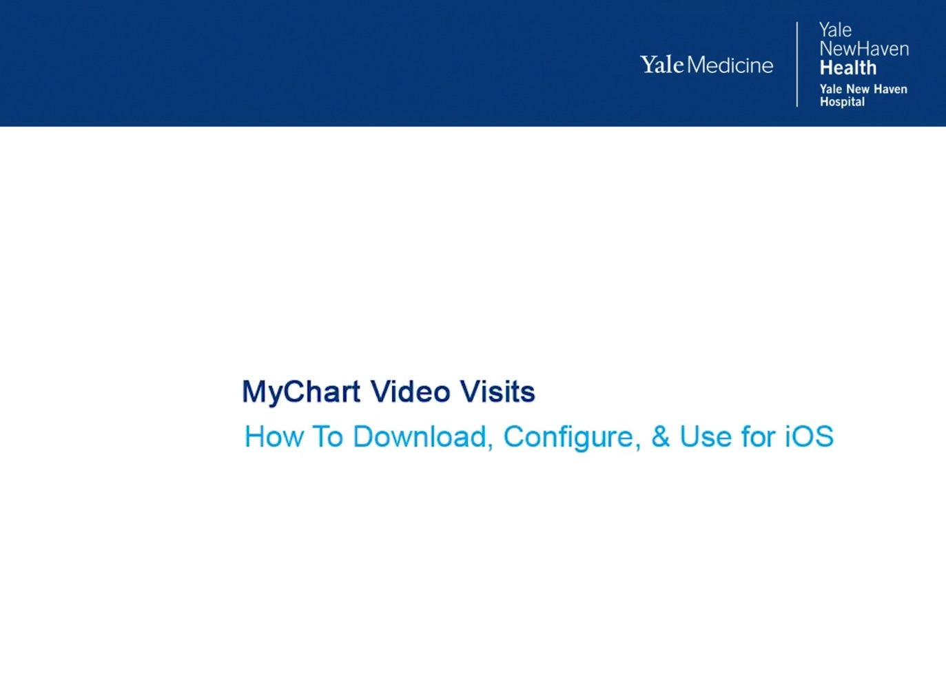 MyChart For Video Visits iOS